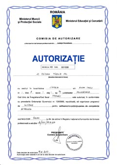 Autorizatie cursuri astrologie Initiere