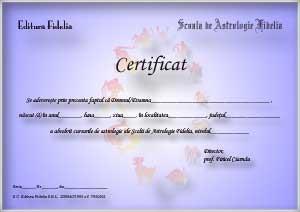 Certificat de atestare a cunostintelor