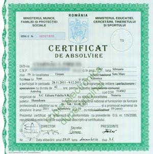 Certificat ANC (Autoritatea Nationala pentru Calificari, fost CNFPA) ocupatia Astrolog